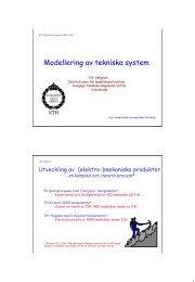 Modellering av tekniska system - Kungliga Tekniska högskolan