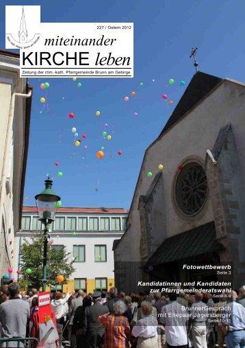 Pfarrzeitung Nr. 227/2012 Ostern - Pfarre Brunn am Gebirge