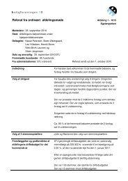 Referat fra ordinært afdelingsmøde - Boligforeningen 3B