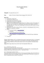 Bestyrelsesmøde i Jurforsk. Referat Tidspunkt: 24. januar 2013, kl ...
