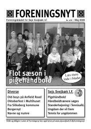 Foreningsnyt nr. 04/2008 - Sejs Svejbæk Idrætsforening