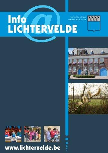 periodieke uitgave april-mei 2013 - nr. 13 - Gemeente Lichtervelde