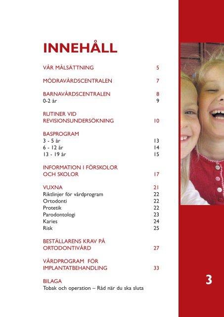 Profylax- och vårdprogram - Landstinget Gävleborg