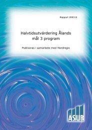 2003:8 Halvtidsutvärdering Ålands mål 3 program - ÅSUB