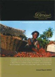 Annual Report 2006-07 Part 1 - Divine Chocolate