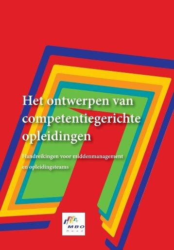 Het ontwerpen van een competentiegerichte opleiding - Kennisnet