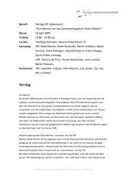 Verslag - Visserij Innovatie Platform