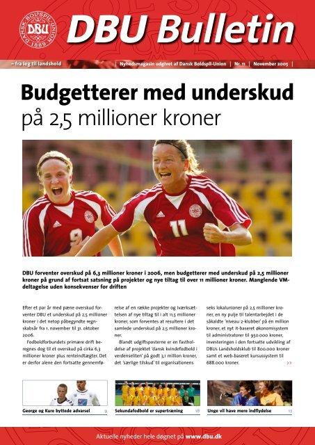 Budgetterer med underskud på 2,5 millioner kroner - DBU