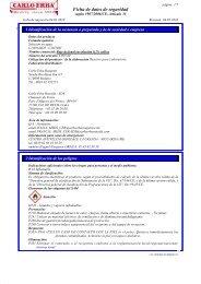 Ficha de datos de seguridad - Carlo Erba Reagents