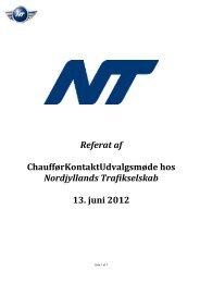 Referat - Nordjyllands Trafikselskab