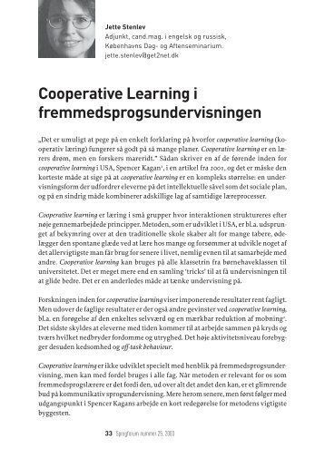 Cooperative Learning i fremmedsprogsundervisningen