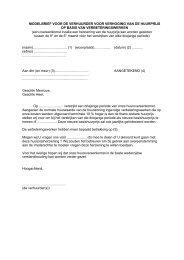 Modelbrief huurverhoging op basis verbeteringswerken - Groep Arco