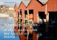 en aktiv, modern hamn med karaktär och historia - Ödeshögs kommun