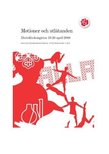 Motioner och utlåtanden - Socialdemokraterna