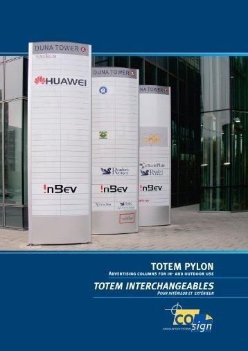 TOTEM PYLON 80 mm - Signtrade International