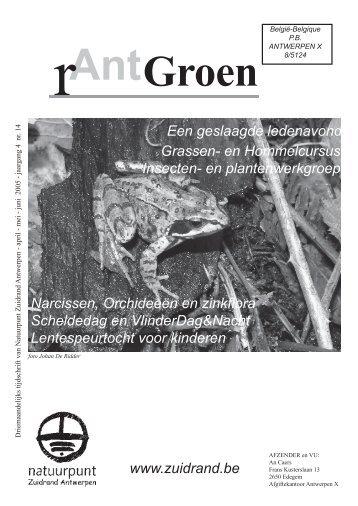 rAntGroen 14 : april - juni 2005 - Natuurpunt Zuidrand Antwerpen