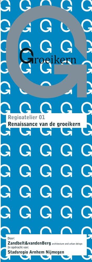 Flyer Regioatelier 1 - De Stadsregio Arnhem Nijmegen