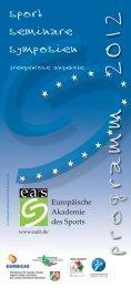 programm 2012 - Europäische Akademie des Sports in Velen ev