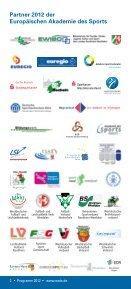 programm 2012 - Europäische Akademie des Sports in Velen ev - Seite 2