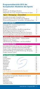 programm 2012 - Europäische Akademie des Sports in Velen ev - Seite 5