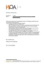 regeling restitutie bij uitvoer van industriële landbouwproducten - HPA