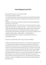 Nationaldagstal 6 juni 2013 - Vikens Kultur- och Byaförening