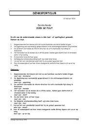 Clubnamiddag/Opendeurdag 21/2/13 - Bekaert Seniorenclub vzw