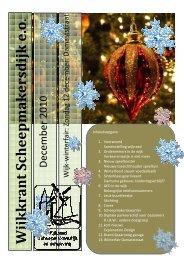 december 2010 - Wijkraad Scheepmakersdijk
