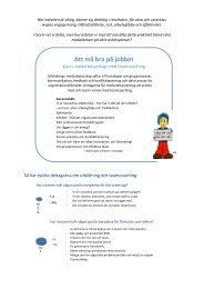 Att må bra på jobbet – kurs i medarbetarskap - Positivt Ledarskap