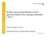 Hvilket ansvar må politikerne ta for å gjøre det ... - Bærum kommune