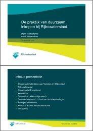 presentatie: 'De praktijk van duurzaam inkopen bij ... - Stichting Probos