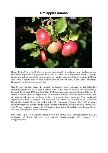 Om äpplet Rambo - Bildweb.se