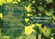 FSC®-mærkede udgivelser - FSC - Forest Stewardship Council