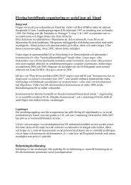 Förslag beträffande organisering av social jour på Åland - Ålands ...