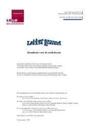 Draaiboek artikelreeks.pdf - LOGO Antwerpen