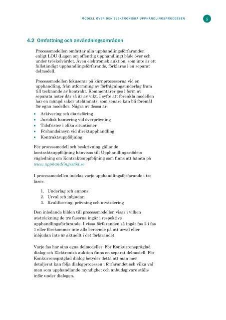 Modell över den elektroniska upphandlingsprocessen