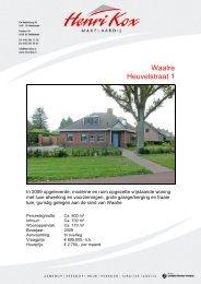 Brochure Heuvelstraat 1, Waalre - Henri Kox Makelaardij