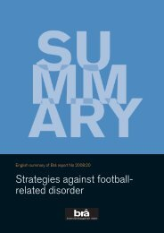 Strategies against football- related disorder - European Crime ...