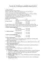 Årsmöte 2011 för Hullaryds samhällsförening 2012-03-04