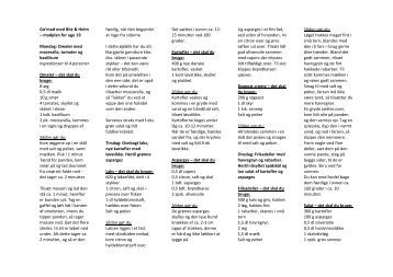Go'mad med Bitz & Holm – madplan for uge 19 Mandag: Omelet ...