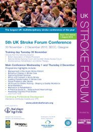 5th UK stroke forum flyer - College of Paramedics