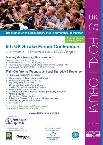 5th UK stroke forum flyer - College of Paramedics