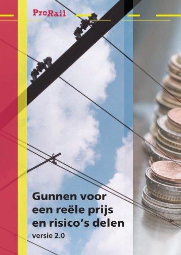 Brochure Gunnen op reële prijs en risico's delen - ProRail