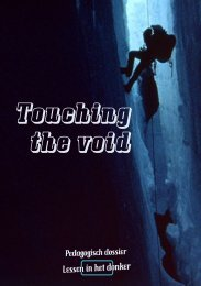 lesmap touching the void - Lessen in het donker
