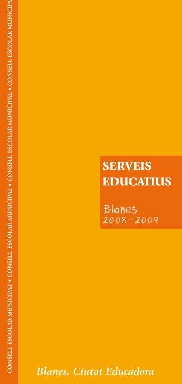 Serveis Educatius 2008-2009.pdf - Ajuntament de Blanes