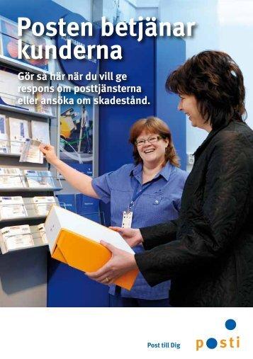 Posten betjänar kunderna - Posti