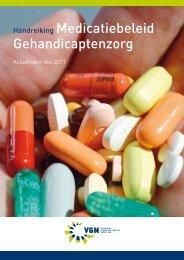 Handreiking Medicatiebeleid Gehandicaptenzorg - KNMP