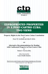 expropriated properties in a post-castro cuba - the Cuba Transition ...
