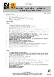 Aanslaan en uitwijzen van lasten IS-006 (Riscovolle taken) - SKP