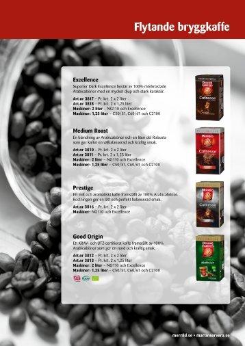 94 grader - flytande bryggkaffe - Martin & Servera